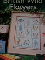 British Wild Flowers Sampler/Cards ~ Cross Stitch Charts