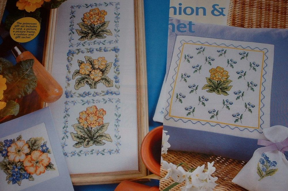Primroses Gift Set ~ Cross Stitch Charts