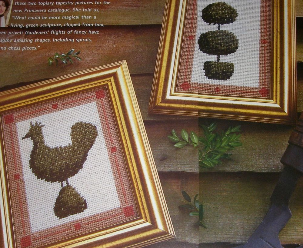 Two Classical Topiary Designs ~ Needlepoint Patterns