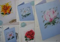Six Milestone Wedding Anniversary Floral Cards ~ Cross Stitch Charts