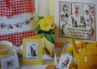 Spring Cleaning Cards, Sampler & Heart Alphabet ~ Cross Stitch Charts