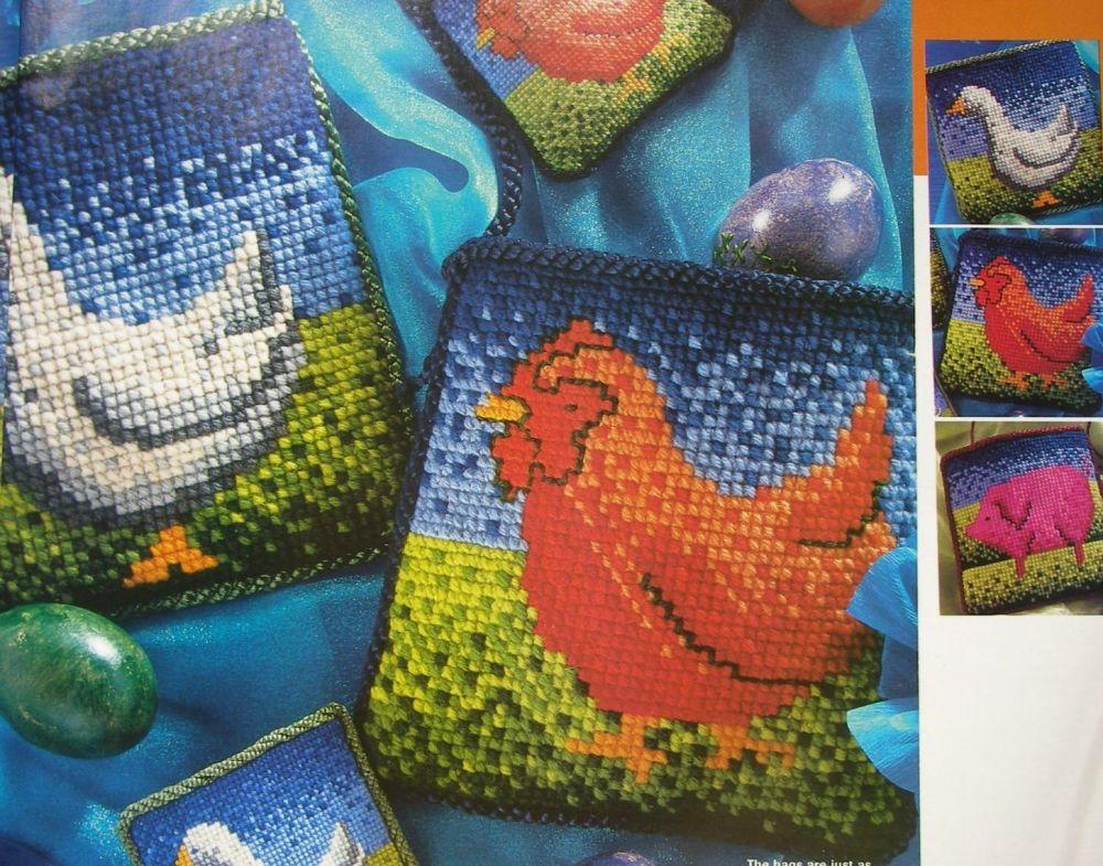 Three Farmyard Animals ~ Cross Stitch Patterns