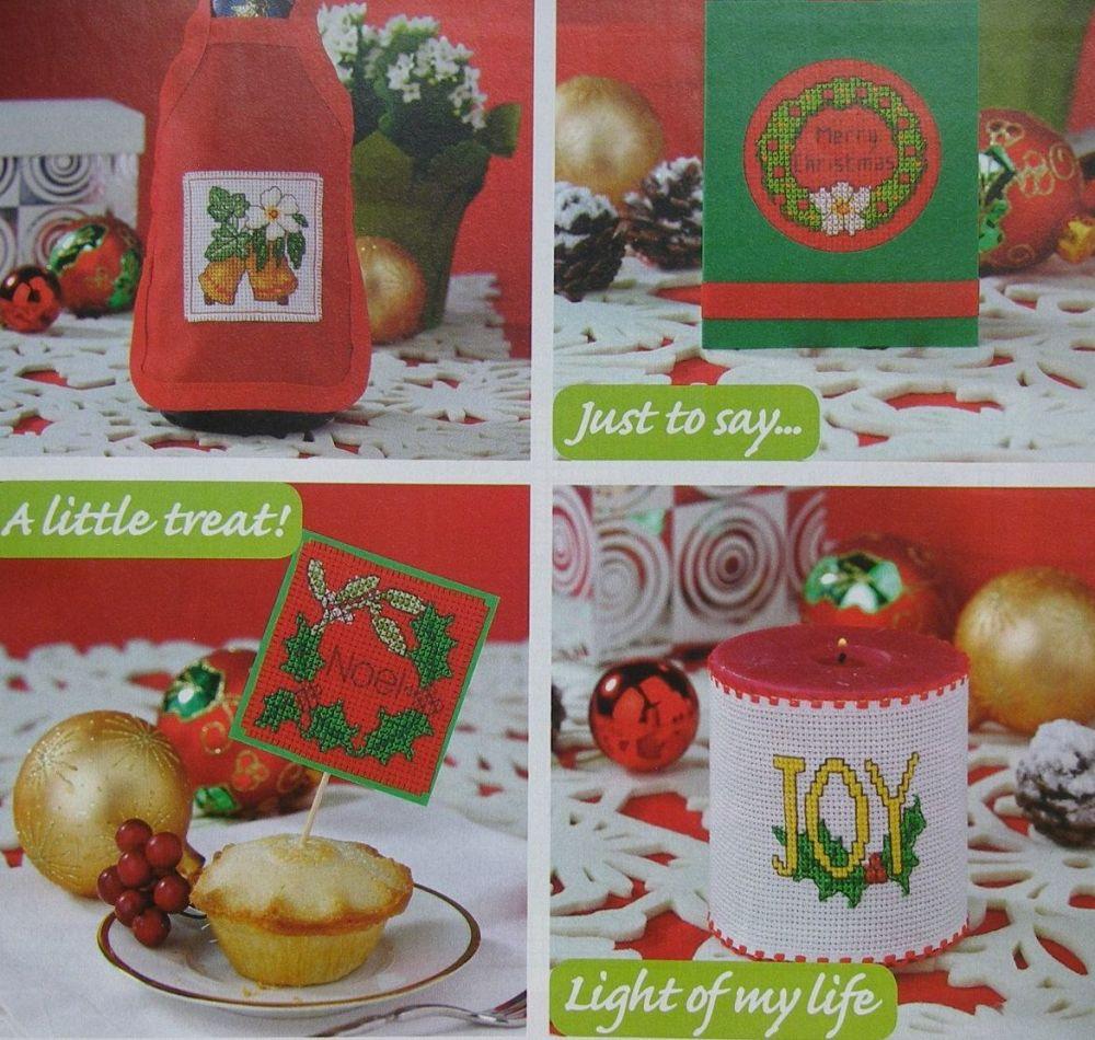 Festive Foliage Christmas Cards & Tags ~ 35 Cross Stitch Charts