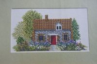 English Brick and Flint Cottage ~ Cross Stitch Chart