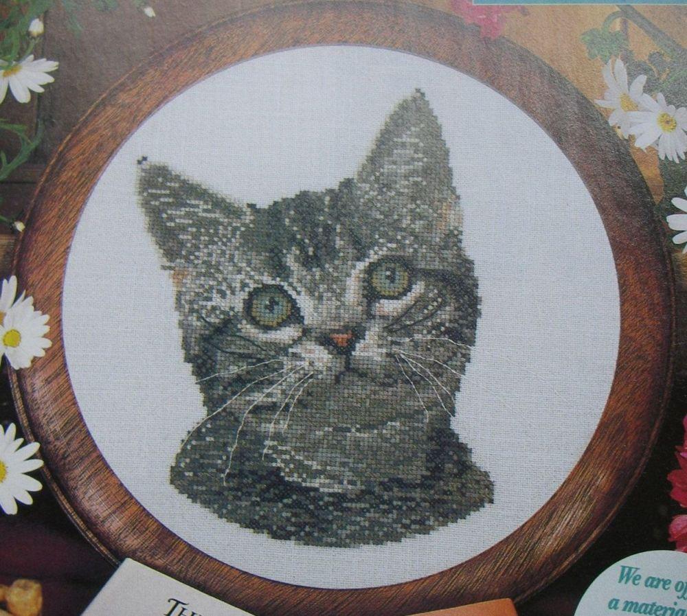 Cat Portrait ~ Cross Stitch Chart