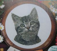 Cat Portrait ~ Cross Stitch Chart