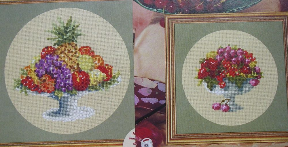 Still Life Studies: Fruit Bowls ~ Two Cross Stitch Charts