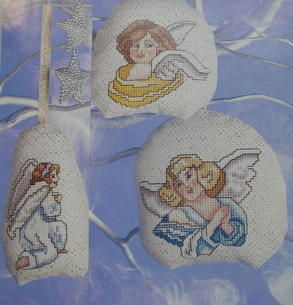 Christmas Angel Decorations ~ Four Cross Stitch Charts