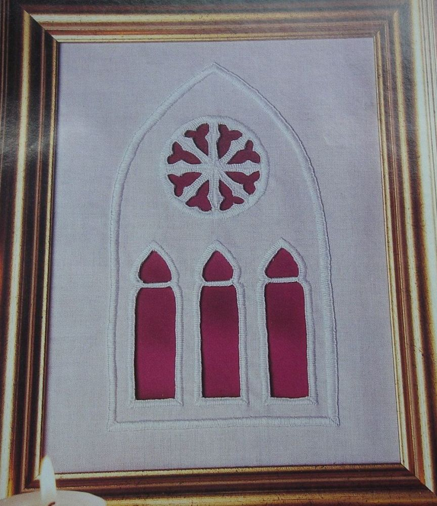 Cutwork Arched Window ~ Cutwork Embroidery Pattern