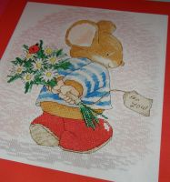 Tom Mouse: Flowers For You ~ Cross Stitch Chart