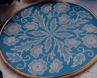 Lace Effect Floral ~ Blackwork Pattern