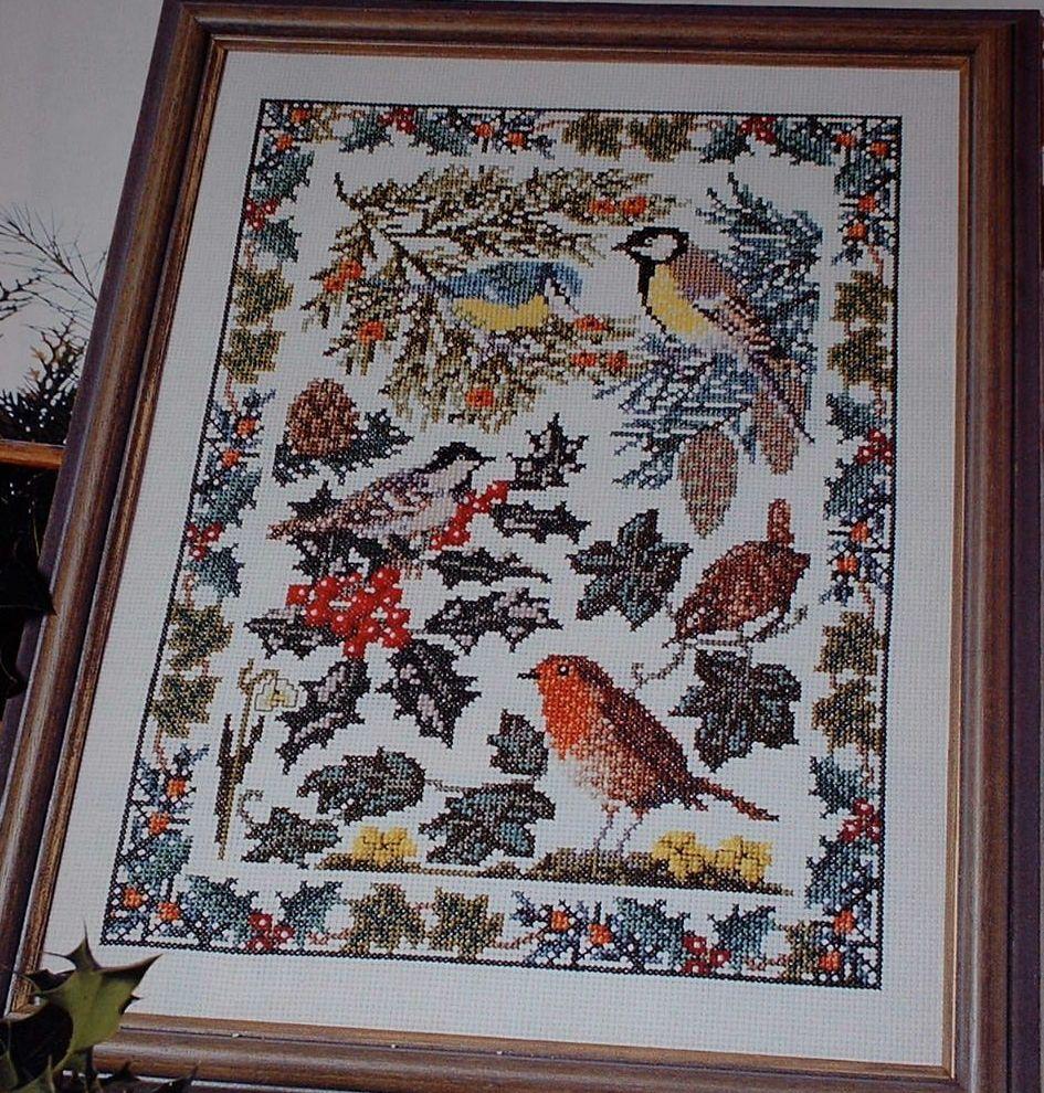 British Wildlife Winter Sampler ~ Cross Stitch Chart