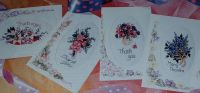 Six Floral Bouquet Cards for any Occasion ~ Cross Stitch Charts