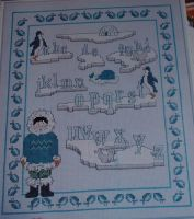 Winter Alphabet Sampler ~ Cross Stitch Chart