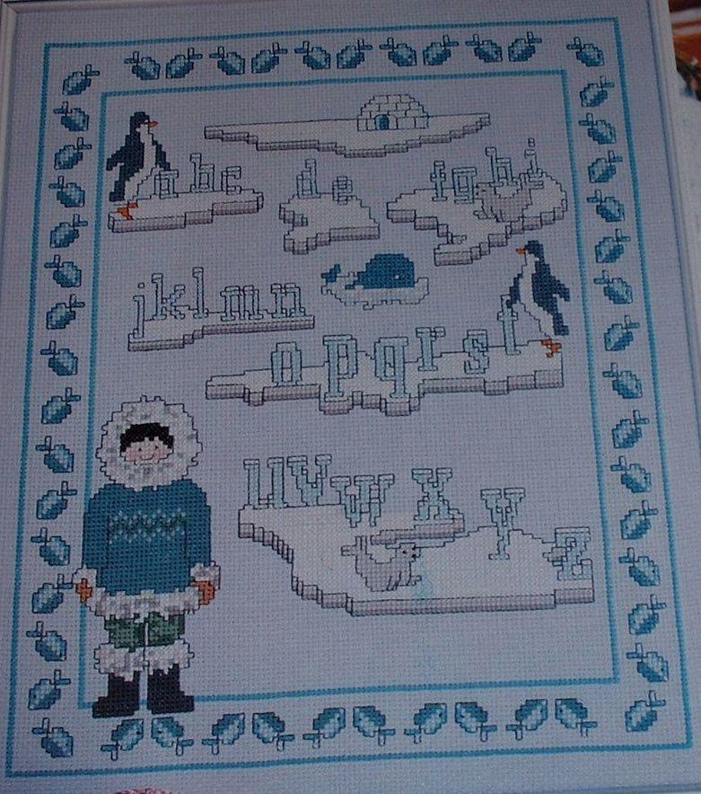 Winter Alphabet Sampler ~ Cross Stitch Chart
