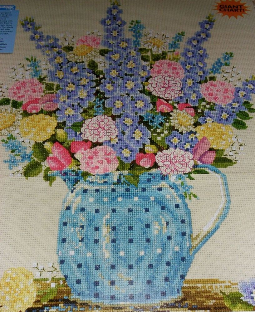 Jug of Summer Flowers ~ Cross Stitch Chart