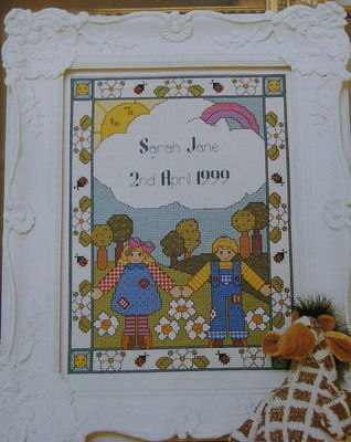 Celebration Birth Sampler ~ Cross Stitch Chart