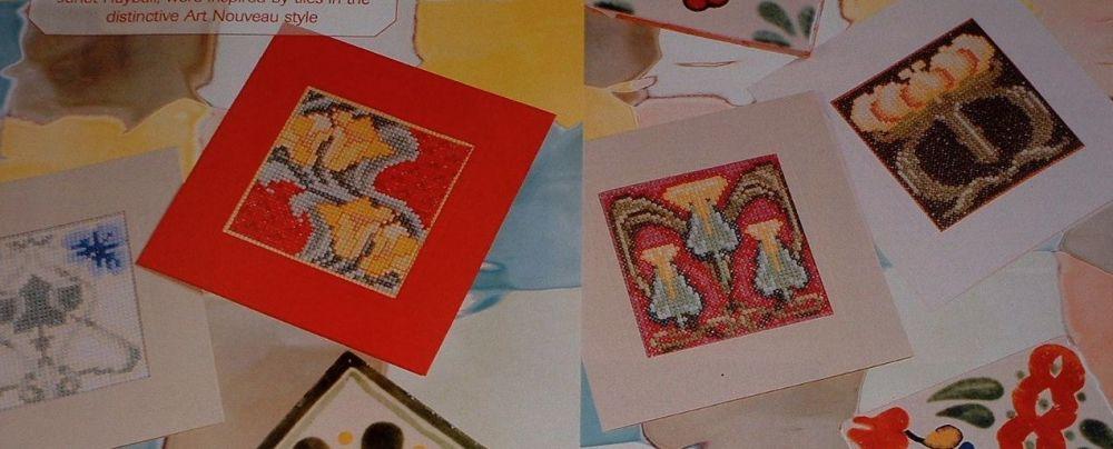 Art Nouveau Style Cards ~ Four Cross Stitch Charts