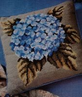 Hydrangea Flower Cushion~ Cross Stitch or Needlepoint Chart