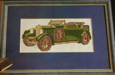 1920's Classic MG Vintage Car ~ Cross Stitch Chart