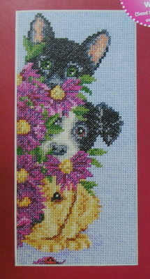 Best Friends: A Trio of Cat & Dogs ~ Cross Stitch Chart
