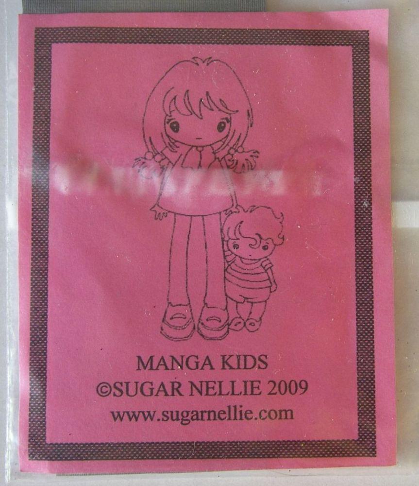 Sugar Nellie: Manga Kids ~ Rubber Stamp