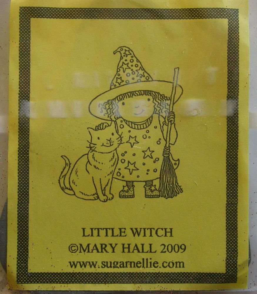 Sugar Nellie: Mary Hall - Little Witch  ~ Rubber Stamp