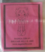 Sugar Nellie: Manga Girl 1 ~ Rubber Stamp