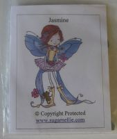 Sugar Nellie: Jasmine ~ Unmounted Rubber Stamp