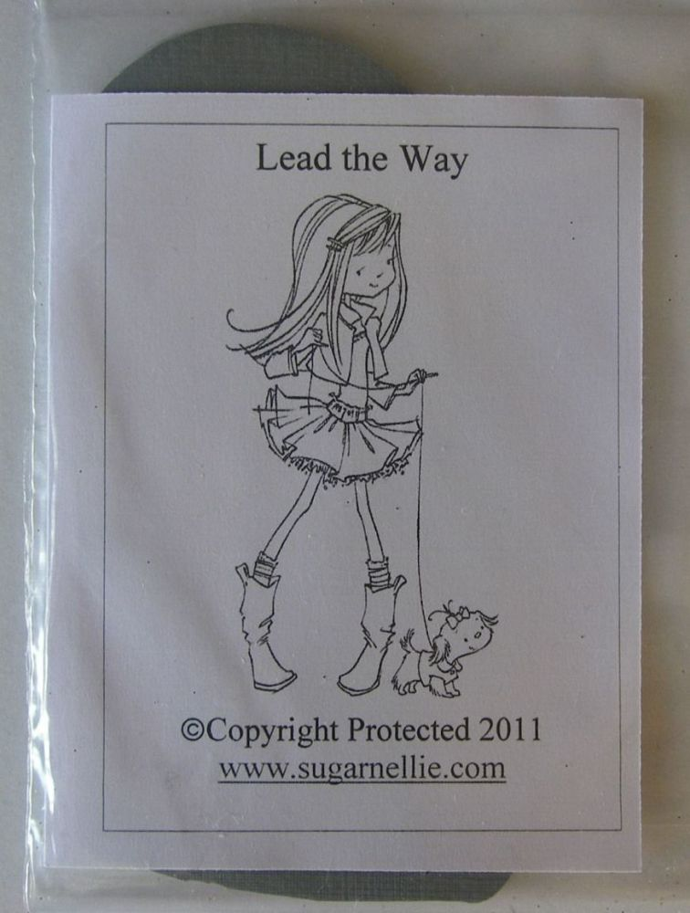 Sugar Nellie: Lead the Way ~ Unmounted Rubber Stamp