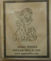 Sugar Nellie: Angel Wishes ~ Rubber Stamp