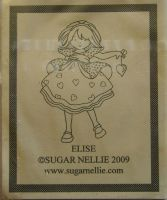 Sugar Nellie: Elise ~ Rubber Stamp