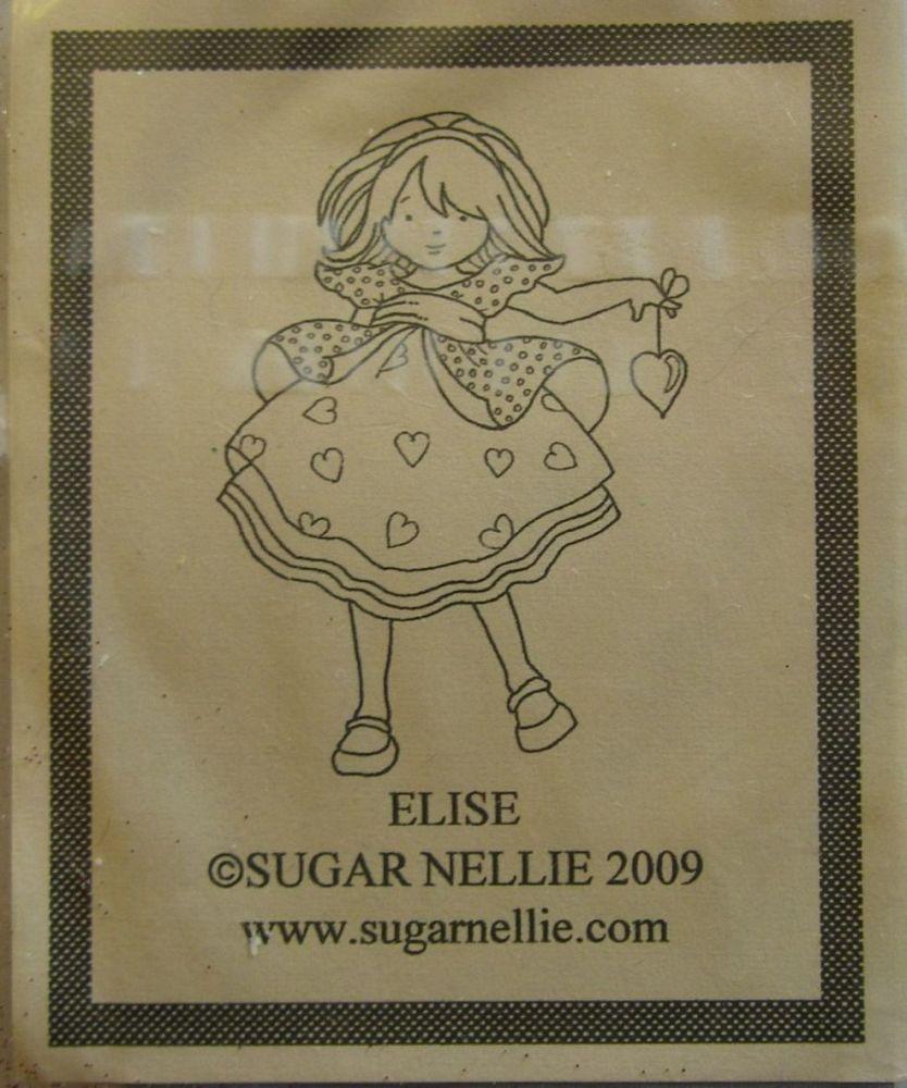 Sugar Nellie: Elise ~ Rubber Stamp
