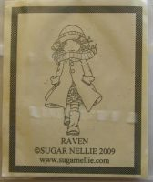 Sugar Nellie: Raven ~ Rubber Stamp
