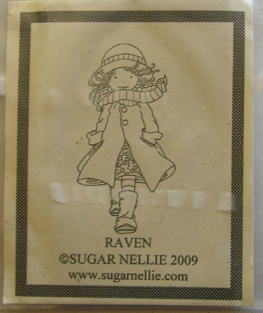 Sugar Nellie: Raven ~ Rubber Stamp