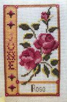 Pink Rose June Birthday Card ~ Cross Stitch Chart