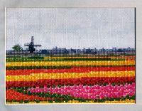Dutch Field of Springtime Bulbs ~ Cross Stitch Chart