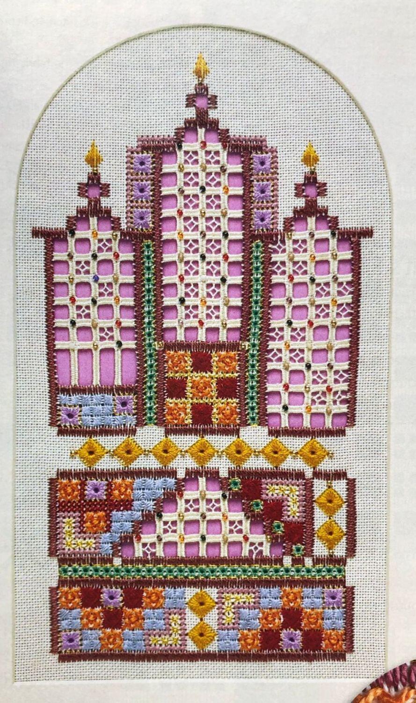 Eastern Inspired Hardanger Sampler ~ Hardanger Embroidery Pattern
