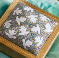 Bargello Hawthorn Leaves Box Lid/ Cushion ~ Embroidery Pattern