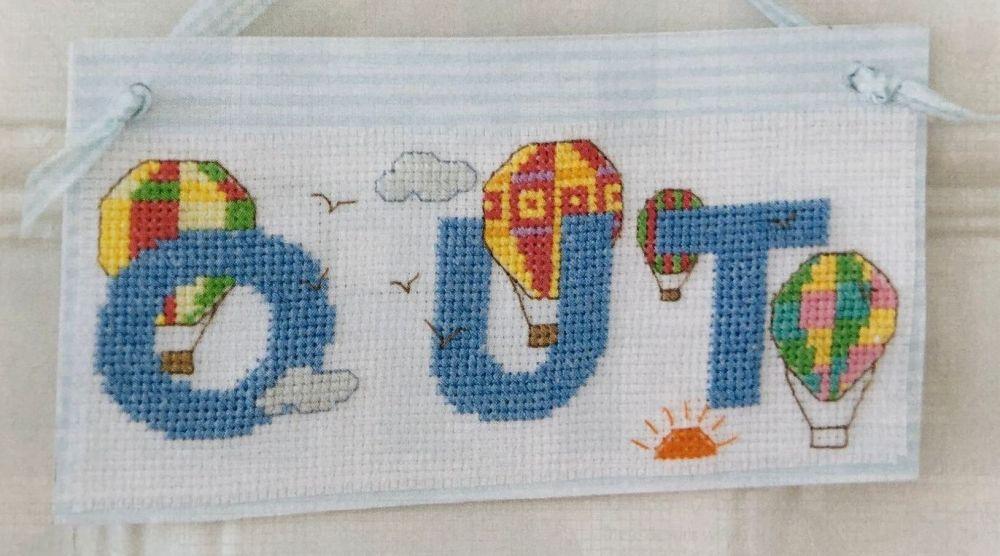Hot Air Balloons ABC Alphabet ~ 26 Cross Stitch Charts