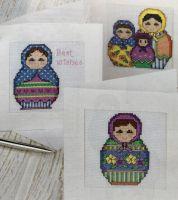 Russian Nesting Dolls ~ Six Cross Stitch Charts