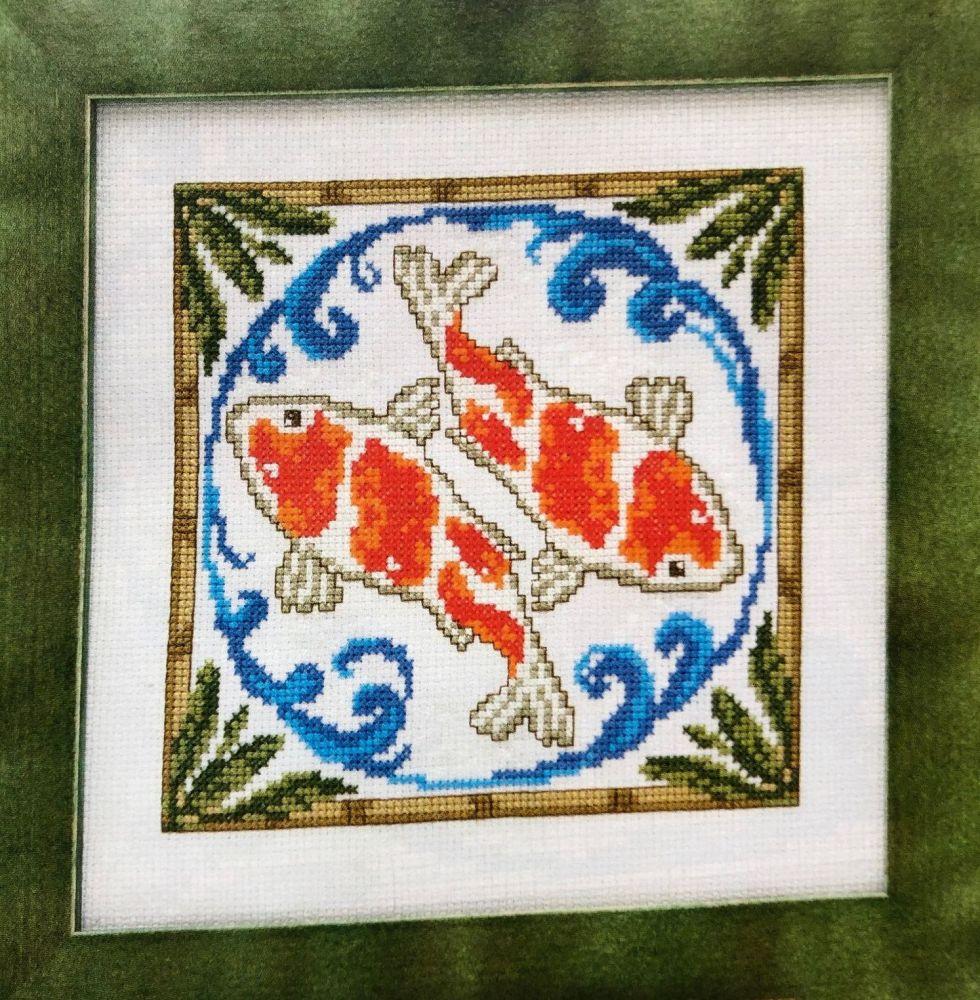 Japanese Koi Fish ~ Cross Stitch Chart