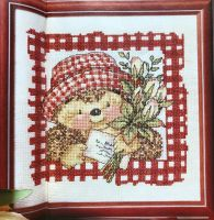 Country Companions: Ed the Hedgehog with a Bunch of Tulips~ Cross Stitch Chart