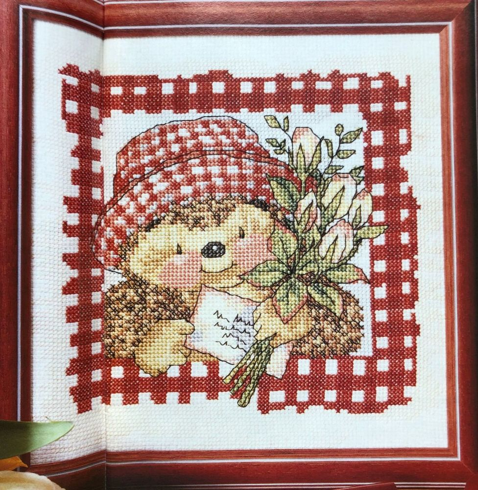 Country Companions: Ed the ~Hedgehog with a Bunch of Tulips~ Cross Stitch C
