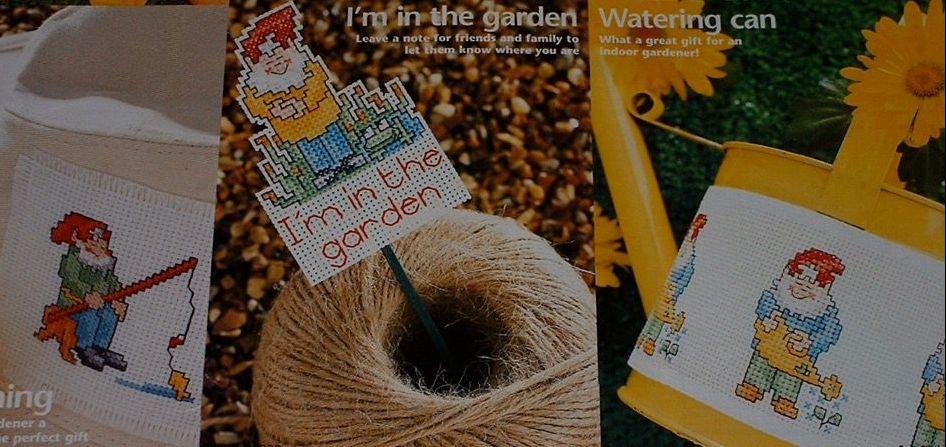 Garden Gnomes ~ Six Cross Stitch Charts