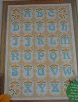 Art Nouveau Alphabet Sampler ~ Cross Stitch Charts