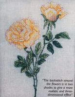 Yellow Rose ~ Cross Stitch Chart