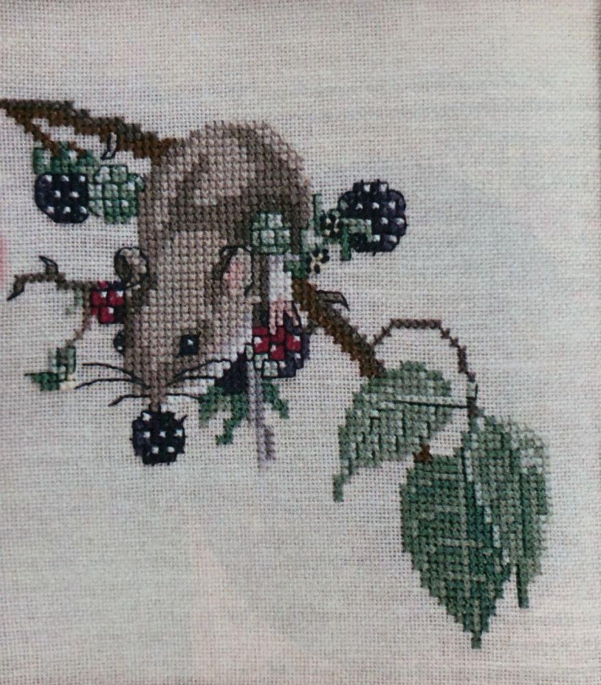 Autumnal Country Mice ~ Three Cross Stitch Charts