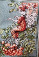 DMC Flower Fairies: The Mountain Ash Fairy ~ Cross Stitch Chart