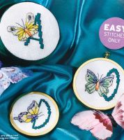 Butterfly ABC Alphabet ~ 26 Cross Stitch Charts